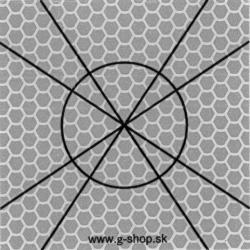 Odrazová fólia 4x4 cm - typ C