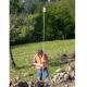 3,5 m teleskopický výtyčka na hranol