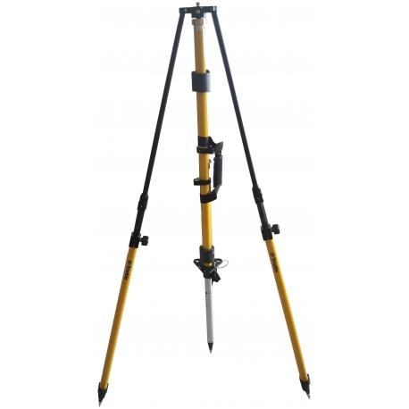 Tripod s centračnou tyčou pre stabilizáciu bázy